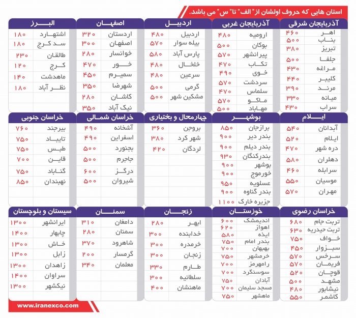 لیست-قیمت نیسان بین شهری-2